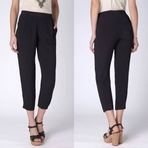 Anthropology Leifnotes Black all Tides Ankle Pants